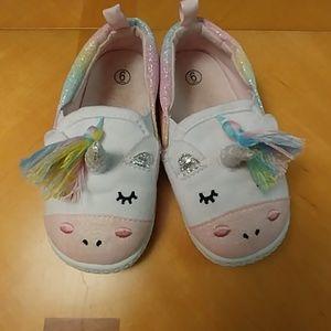 Toddler unicorn slip on shoes